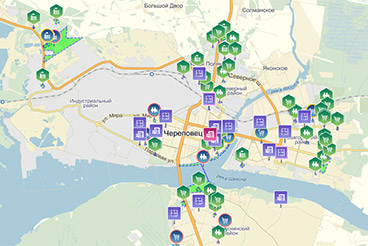 Investment map Cherepovets